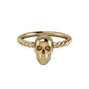 Skull, Yellow Gold, Rope,