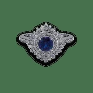 alexandrite, diamond, platinum, ballerina, diamond shoulders