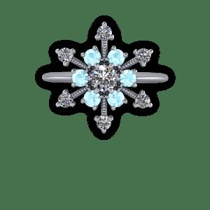 platinum, diamond, aquamarine, snowflake, ballerina