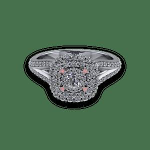 diamond, pink diamond, halo, mixed metal,