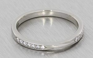 Diamond set twisted wedding band - Portfolio