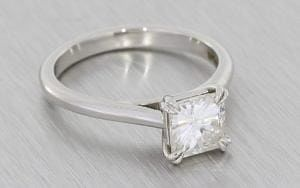 Classic square custom set Moissanite Engagement Ring – Portfolio