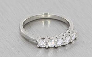 Classic Five Stone Diamond Ring - Portfolio