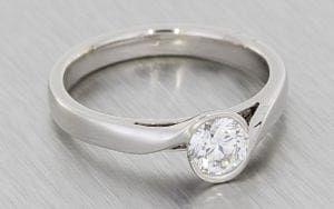 Diamond And Amethyst Bypass Engagement Ring - Portfolio