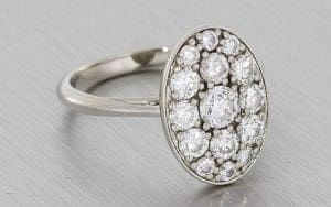 Pave Diamond Engagement Ring - Portfolio