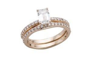 14ct rose gold engagement ring and wedding ring set - Portfolio