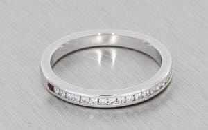 Platinum Half Eternity ring - Portfolio