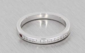 Platinum Half Eternity ring - Portfolio