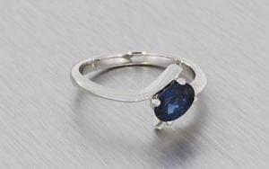 Contemporary Oval Sapphire Bypass Ring - Portfolio