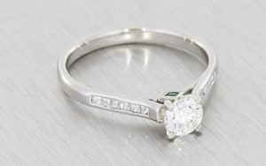 Platinum Engagement Ring with Channel Set Shoulders - Portfolio