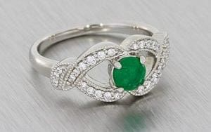 Victorian Inspired Emerald And Diamond Engagement Ring – Portfolio