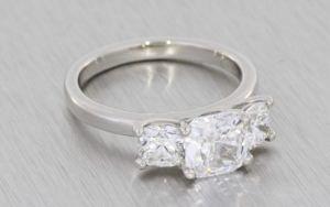 Stunning Three-Stone Diamond Ring - Portfolio