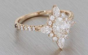 Enchanting Rose Gold Ballerina Ring - Portfolio