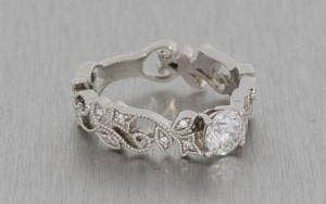 Art Deco Inspired Floral Engagement Ring - Portfolio