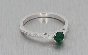 Beautiful Trilogy Emerald And Diamond Engagement Ring - Portfolio