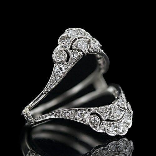 Wrap around engagement rings