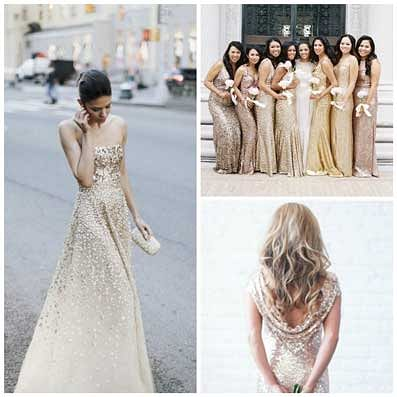 Wedding Theme Inspiration – Mixed Metallics