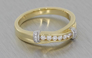 Diamond anniversary ring with matching earrings