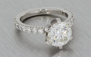 Incredible 2-07ct Crafted By Infinity platinum and diamond ring