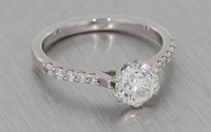 Floral 1ct Diamond Ring
