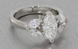 Platinum 5 stone Marquise diamond ring