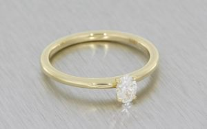 Delicate Oval Diamond Solitaire
