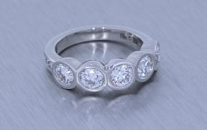Glamorous bezel set proposal ring